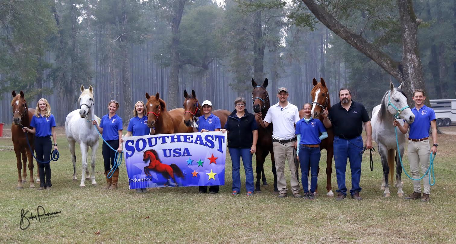 USA SOUTHEAST EARNS TEAM SILVER AT THE 2016 YOUNG RIDER ENDURANCE TEAM CHALLENGE!